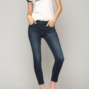 Hidden jeans amelia dark wash raw hem jeans 25